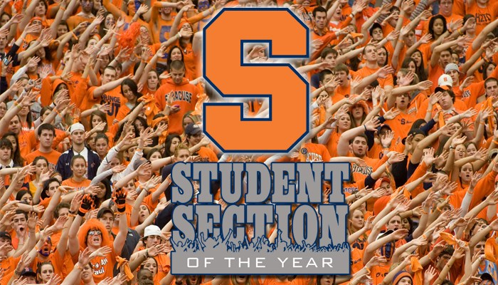 Vote Su For Student Section Of The Year Syracuse University Athletics