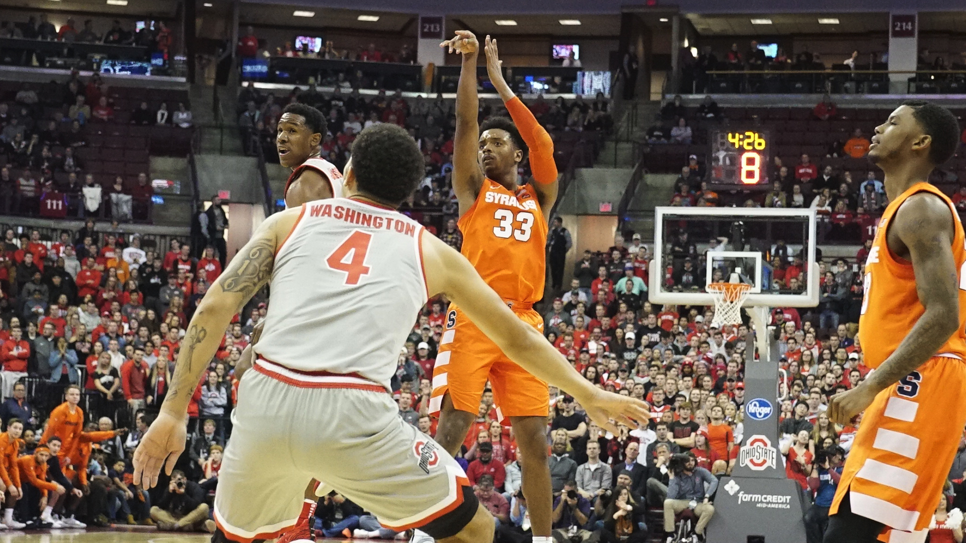 Strong Second Half Pushes Orange Past 16 Ohio State