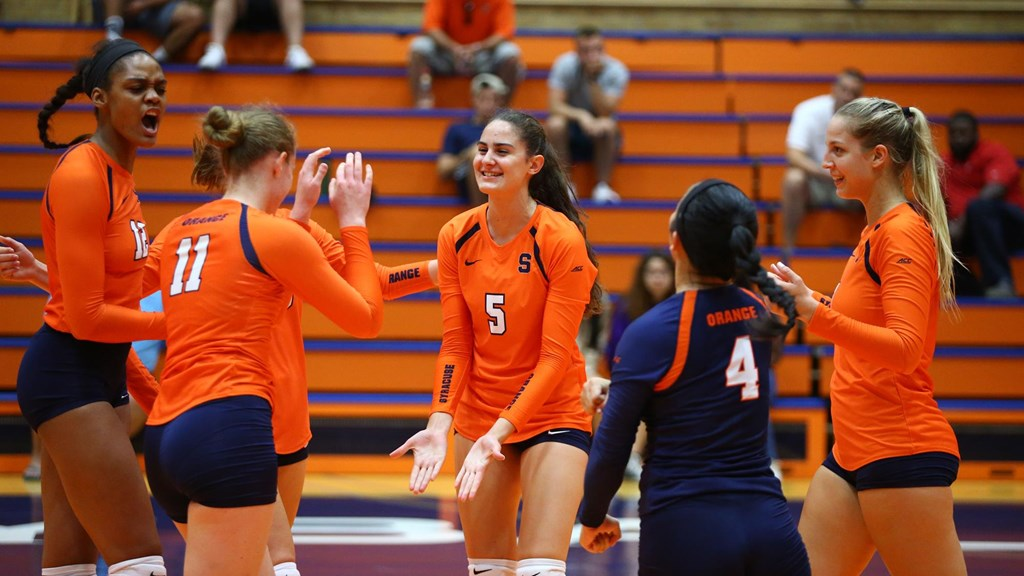 Volleyball Set To Take On Three Top 25 Teams Syracuse University