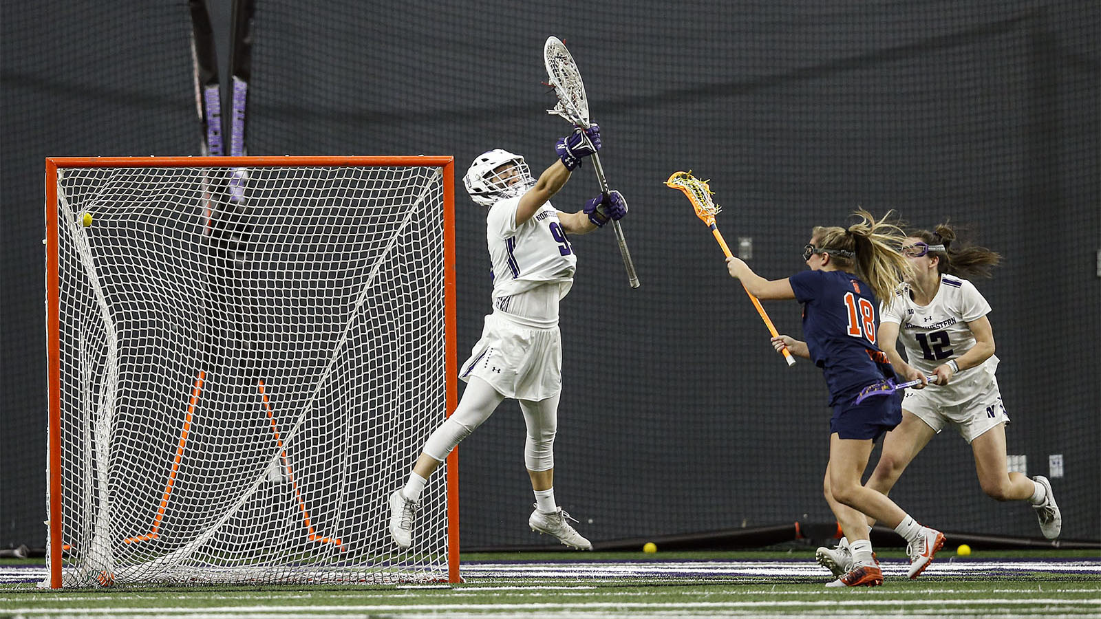 Meaghan Tyrrell scored a career-high five goals at Northwestern.