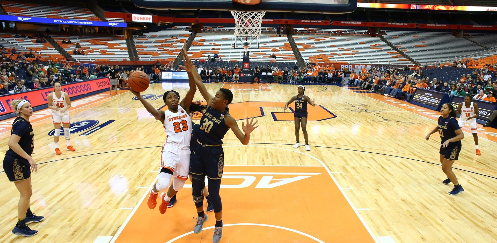 Syracuse Women's basketball falls short against Notre Dame, 72-70