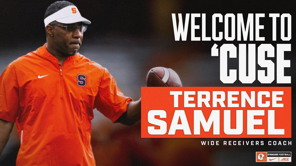 Terrence Samuel named as Syracuse football's new receivers coach